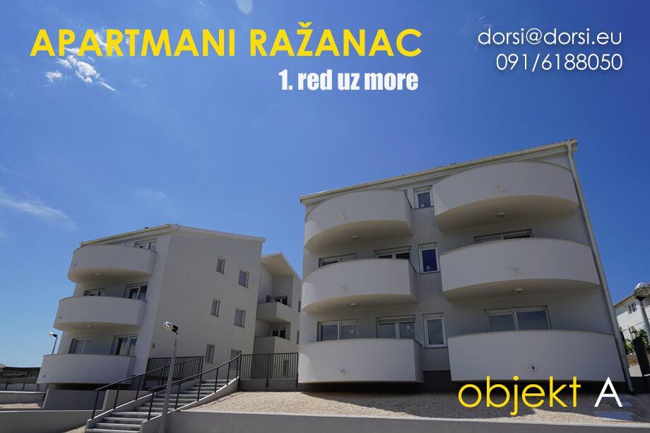 Apartmani Ražanac Novogradnja – 1. red uz more_objekt A
