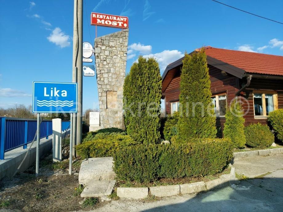 GOSPIĆ - restoran uz rijeku Liku s parkiralištem (iznajmljivanje)