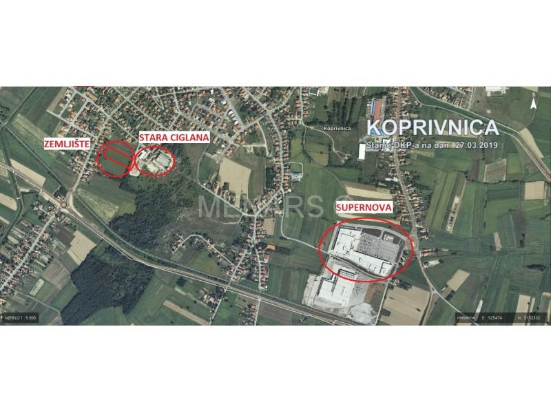 GRAĐEVINSKO MJEŠOVITO ZEMLJIŠTE, 7542 m2, KOPRIVNICA