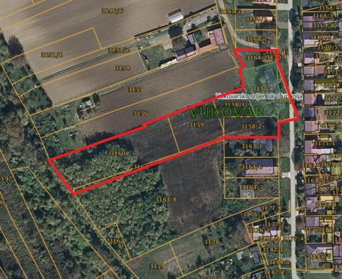 Građevinsko zemljište: Vukovar, Lijeva Supoderica 11, 6.144 m2