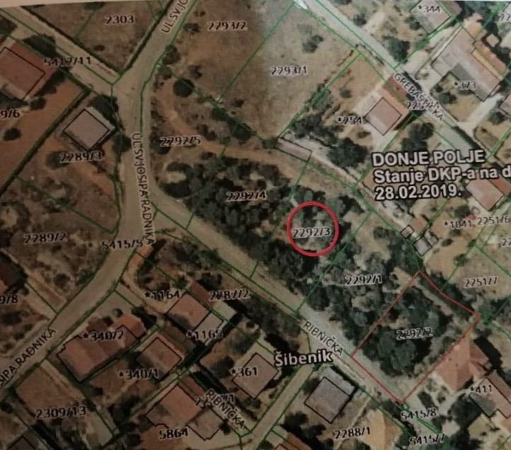 Građevinsko zemljište, Donje Polje, 909 m2