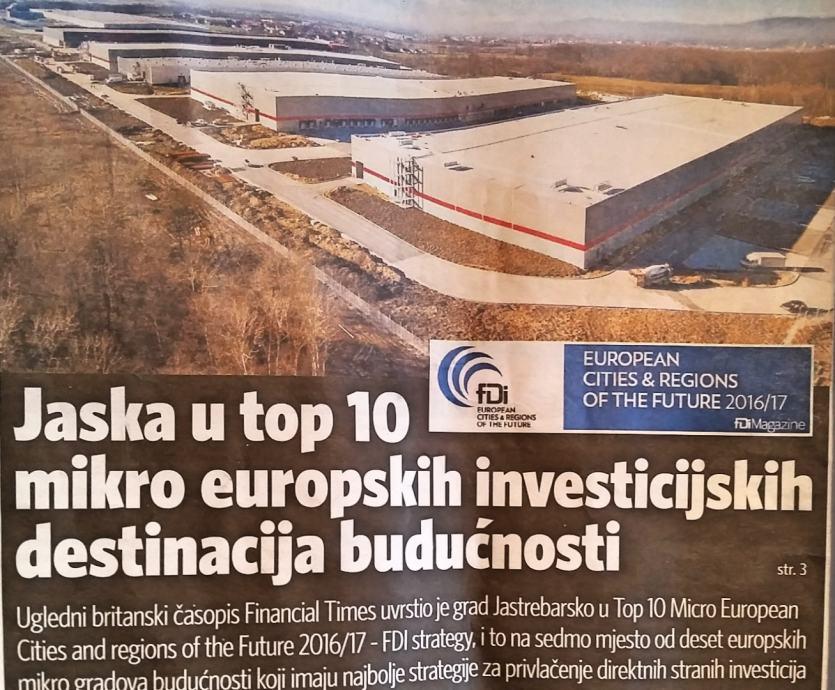 GRAĐEVINSKO Zemljište 20713m2 u industrijskoj zoni Jastrebarsko