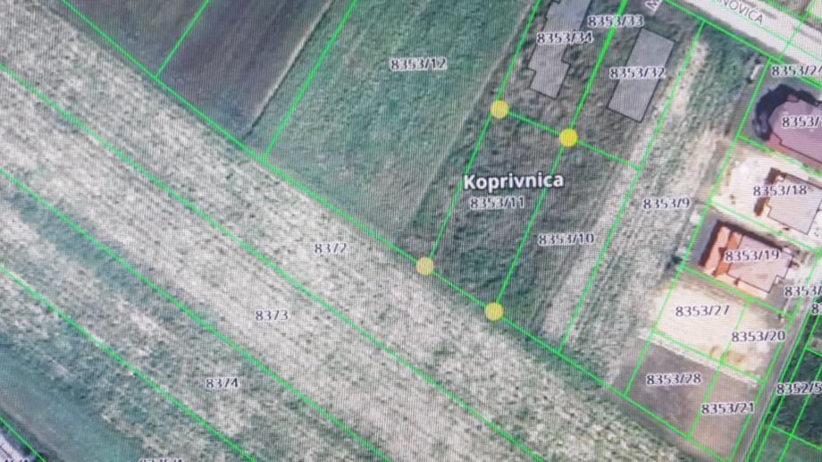 Građevinsko zemljište, Koprivnica, 905 m2