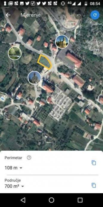 Građevinsko zemljište, Kostanje, 640 m2