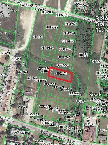 Građevinsko zemljište, Sisak, 1163 m2 - HITNO! -