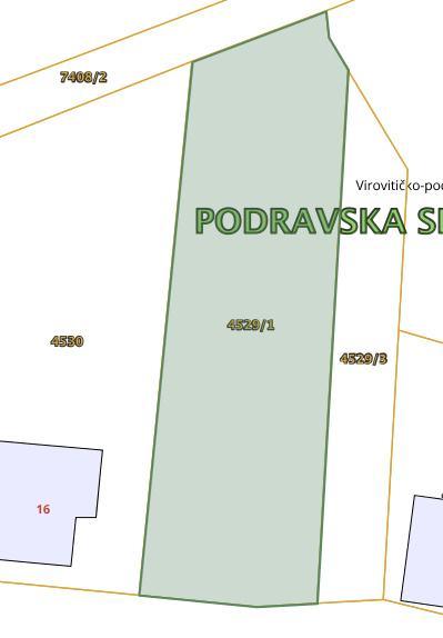 Građevinsko zemljište, Virovitičko-podravska županija, Slatina, 665 m2