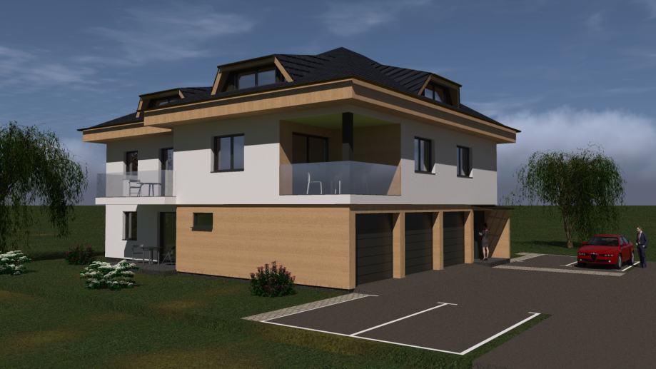 J. J. Strossmayera, novi luksuzan stan, garaža, površine 124 m² + vrt (prodaja)
