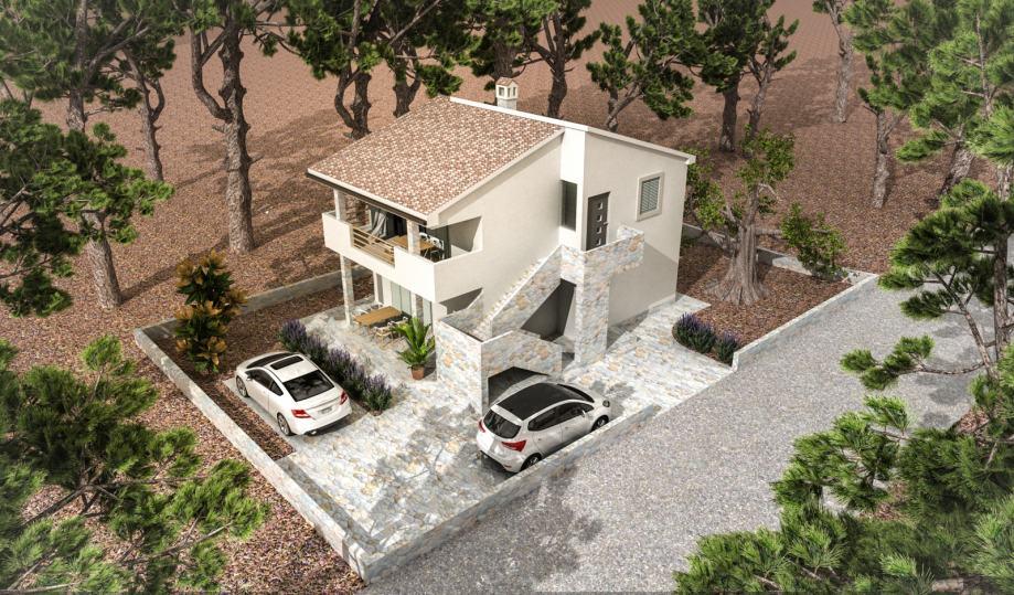 Kuća: Drage, katnica, 149.00 m2, sa dva stana, novogradnja (prodaja)