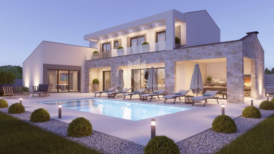 Labin, okolica, prekrasna moderna Villa u izgradnji (prodaja)