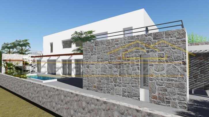 Mrljane, otok Pašman, novoizgrađena kuća s bazenom, 2.red do mora (prodaja)