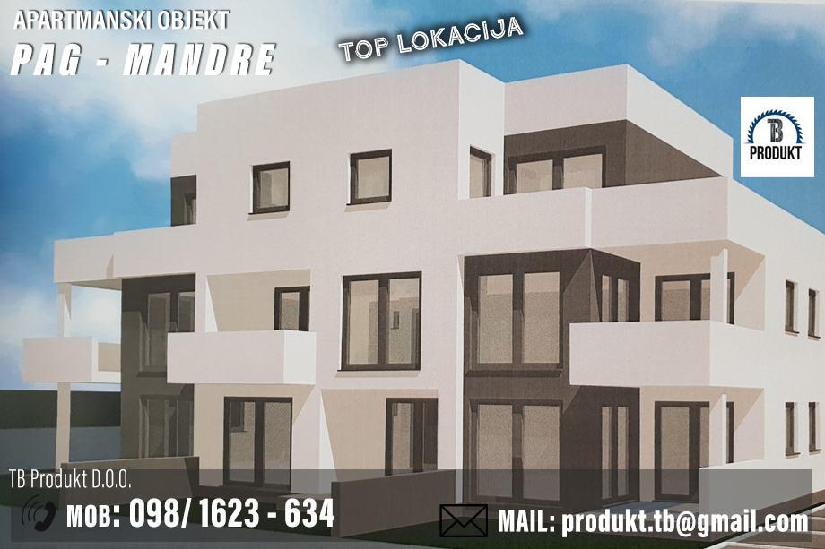 Novogradnja - luskuzni stanovi - Pag, Mandre