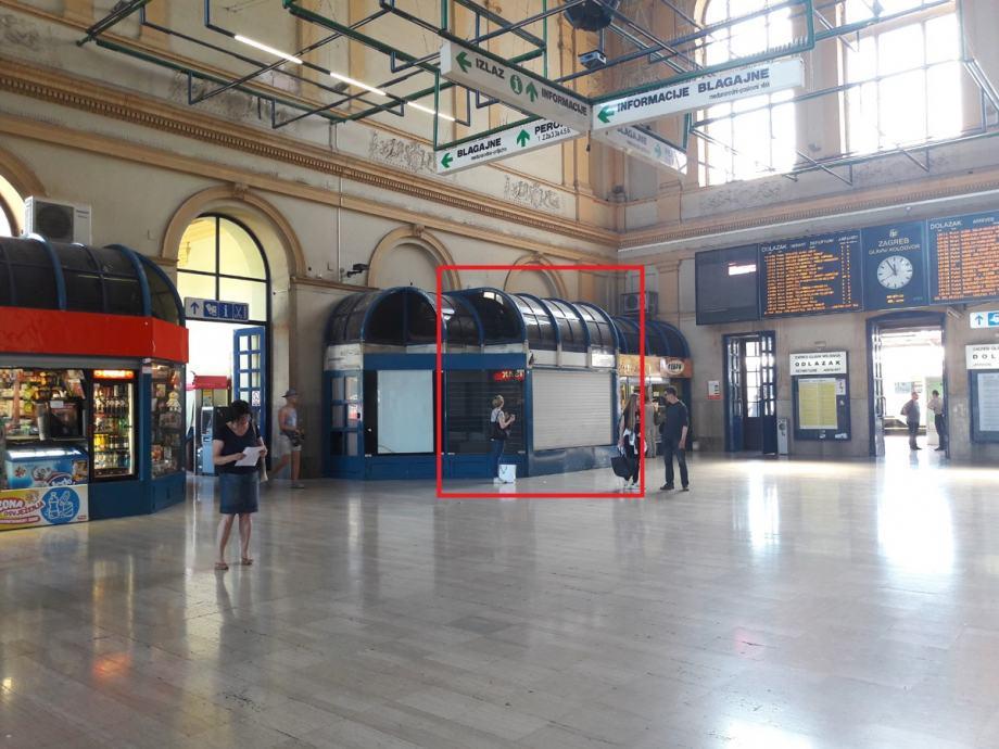 Poslovni Prostor Zagreb Glavni Kolodvor Kiosk 18 1 M2 Iznajmljivanje