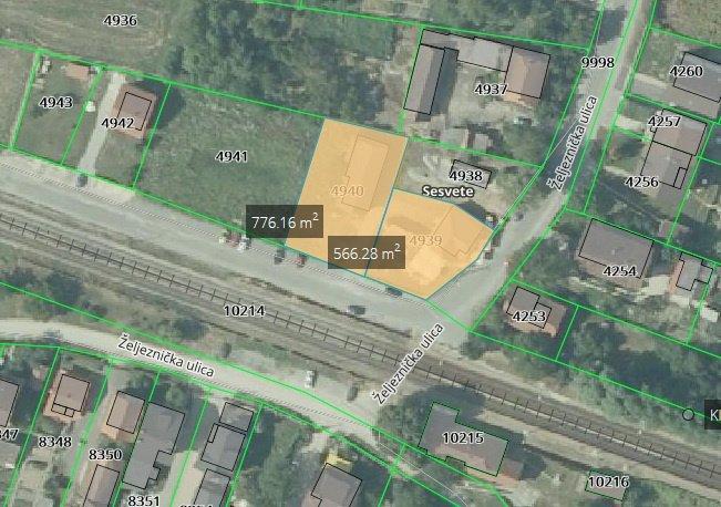 Akcija-Caffe bar (parc.560m2)+mog. 776m2 (S.Kralj.ž.stanica ) Hitno (prodaja)