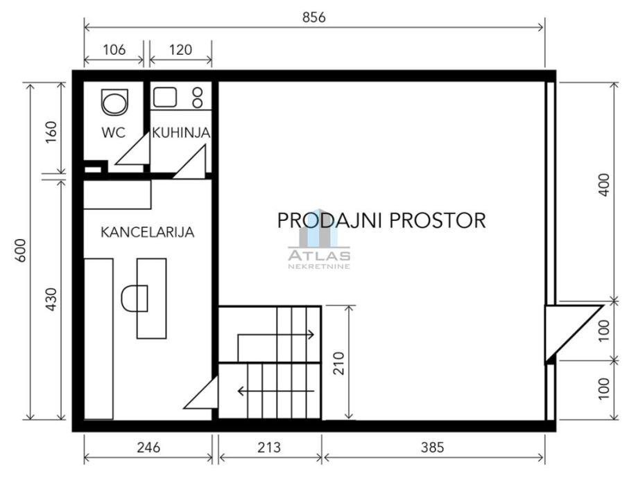 Zagreb, Dubrava, poslovni prostor pov. 84 m2 (prodaja)