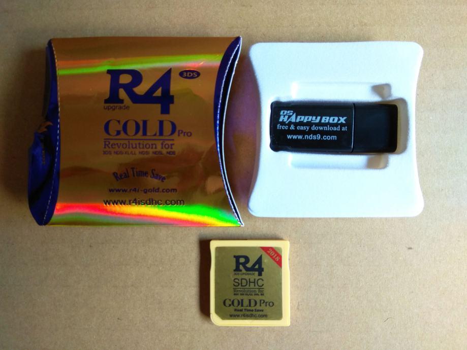 R4 Gold PRO 2018 za Nintendo DS / 2DS / 3DS