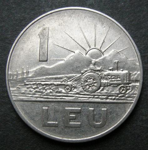 ROMANIA 1 LEU  1963