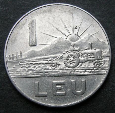 ROMANIA 1 LEU 1966