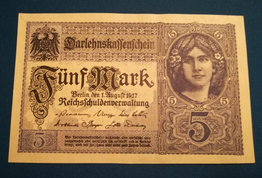 5 mark 1917 UNC