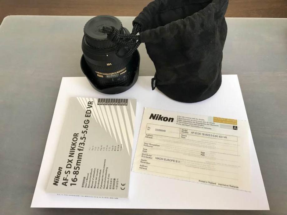 Nikon AF-S DX NIKKOR 16-85 3.5-5.6 G ED VR
