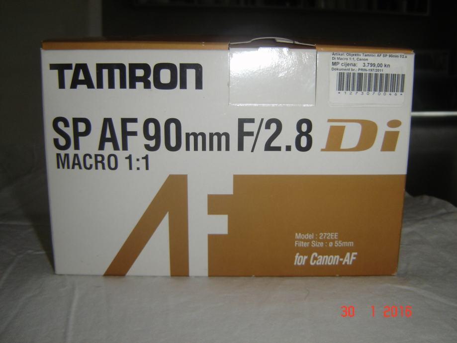 OBJEKTIV TAMRON SP AF 90mm F/2.8 Di, Model 272EE, za Canon