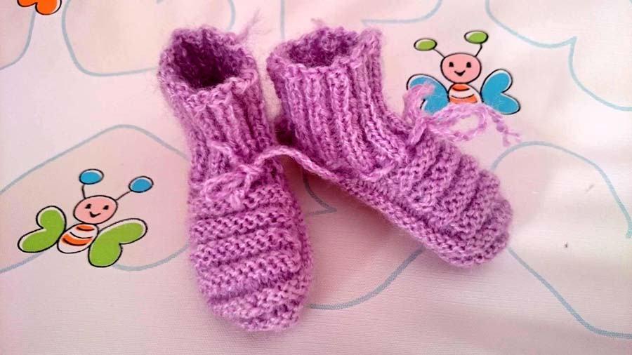 NOVE pletene papuče za bebe