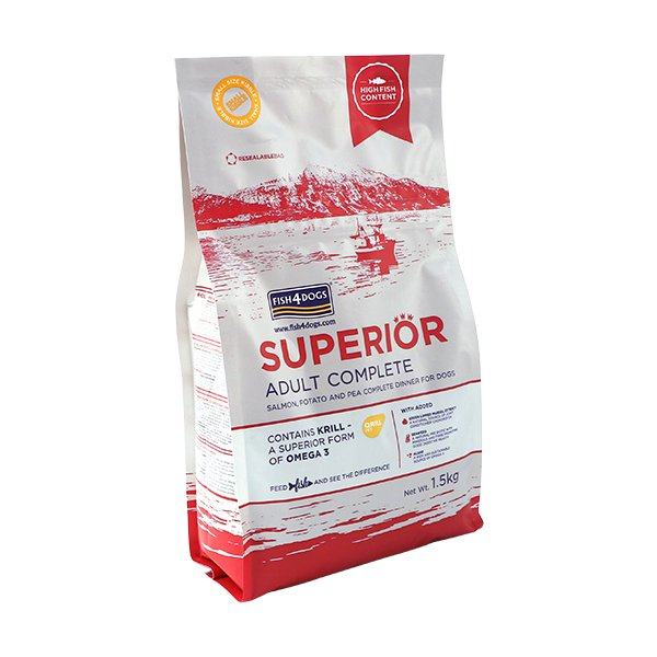 FISH4DOGS SUPERIOR ADULT – SMALL – LOSOS 1.5kg