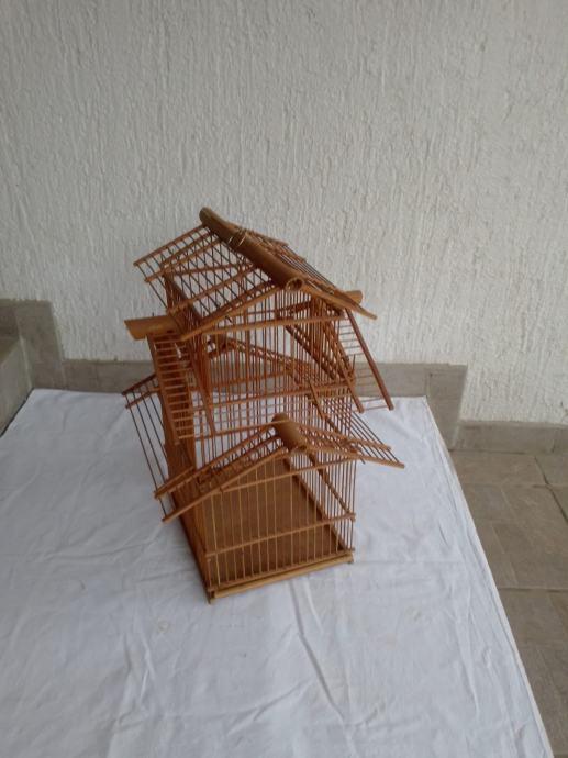 Krletka, jedinstvena, bambus