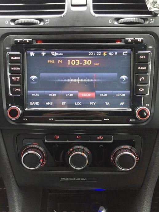 autoradio cd dvd mp3 navigacija vw golf 5 6 skoda. Black Bedroom Furniture Sets. Home Design Ideas