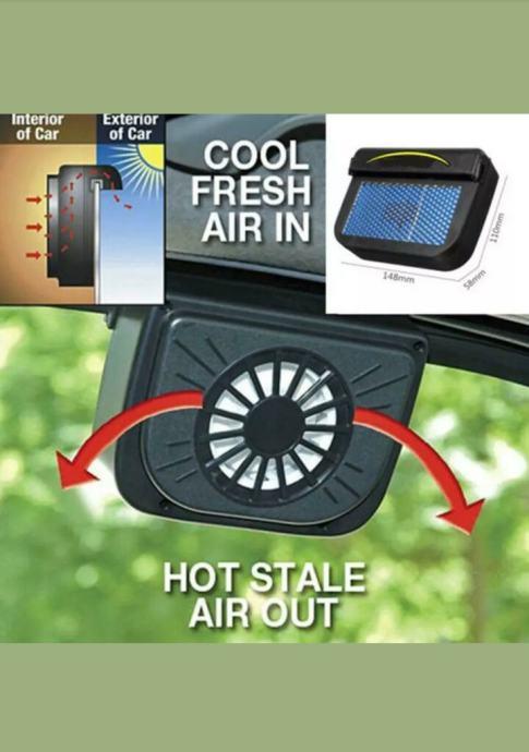 Ventilator za auto solarni