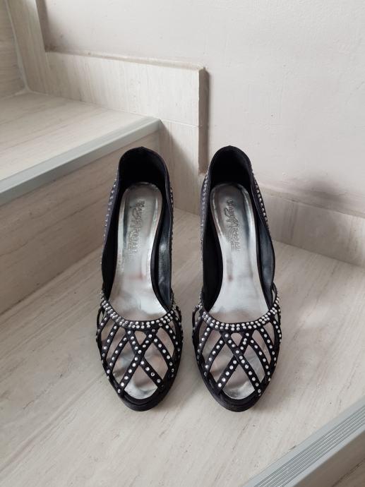Prekrasne svečane cipele na petu sa cirkonima očuvane br.38