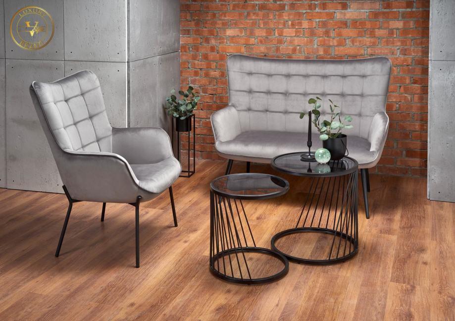 Vstyle Luxury Brand siva sofa Castel