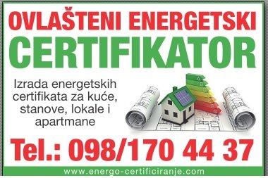 Energetski certifikat - bez dodatnih troškova (izmjere, dostave i sl)