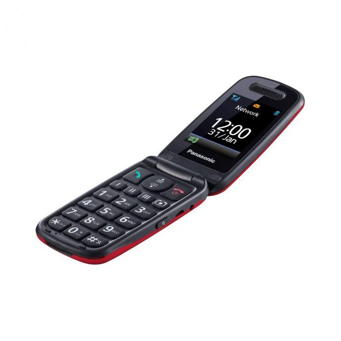 Panasonic mobitel preklopni jednostavni GSM KX-TU456EX - CRVENI