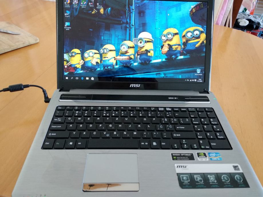 "MSI CX640/ i5 / 8GB DDR3 / 500GB HDD/LED 15.6""/ NVidia GT520M,1GB,HDMI"
