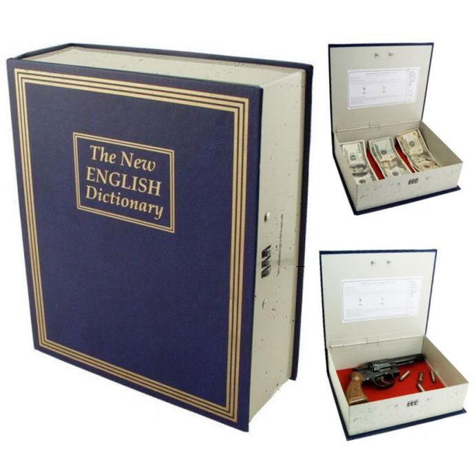Sef za oruzje, novac i dokumente sakriven u knjizi, NOV, dostava
