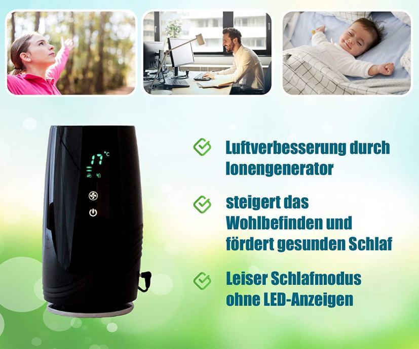 Baren B-D01 pročistač-Ionizator zraka, Hepa filter, LED temperat+vlažn