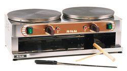 Aparat za palaćinke,električni s 2 ploče promjera 350mm,400V