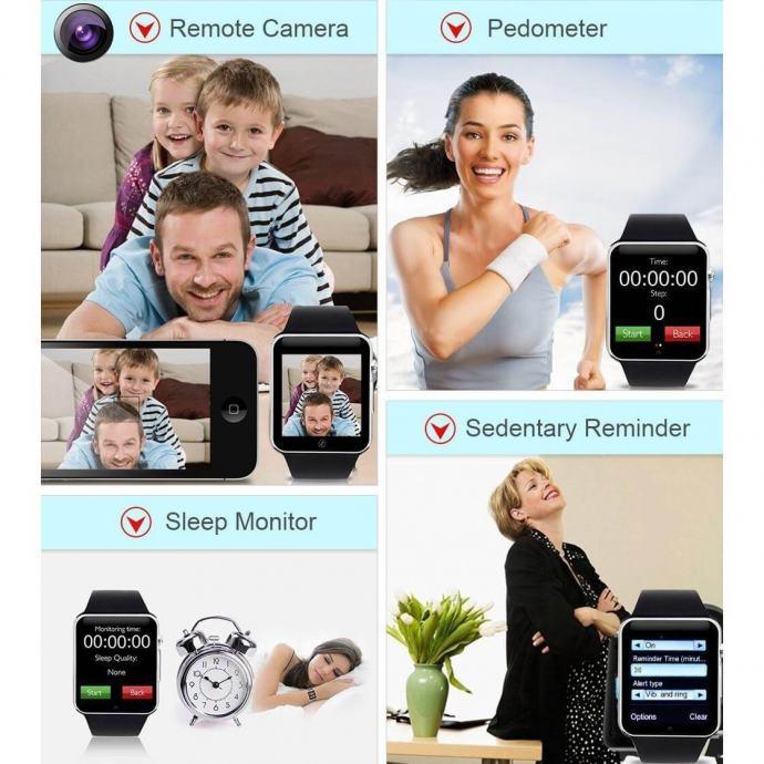 Smart watch sat A1 Orginale + TELEFON + KAMERA + BLUETOOTH
