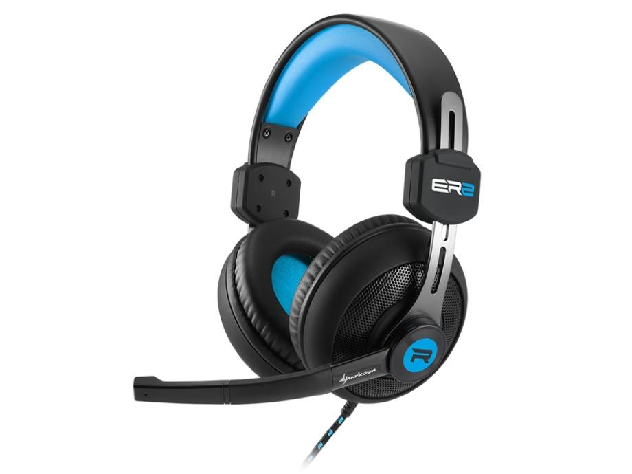 Naglavne gamerske slušalice s mikrofonom Sharkoon Rush ER2 crno-plave