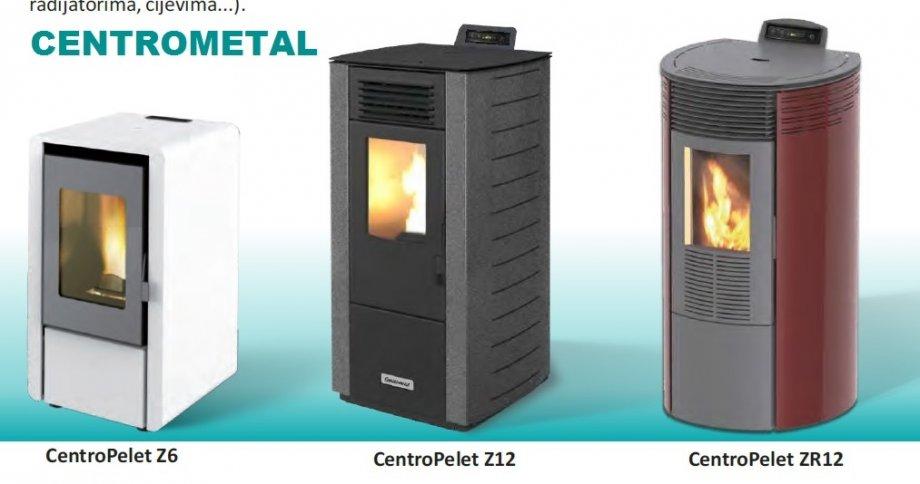 CENTROMETAL CentroPelet Z6, Z12, ZR12 sobne peći na pelete kW  AKCIJA