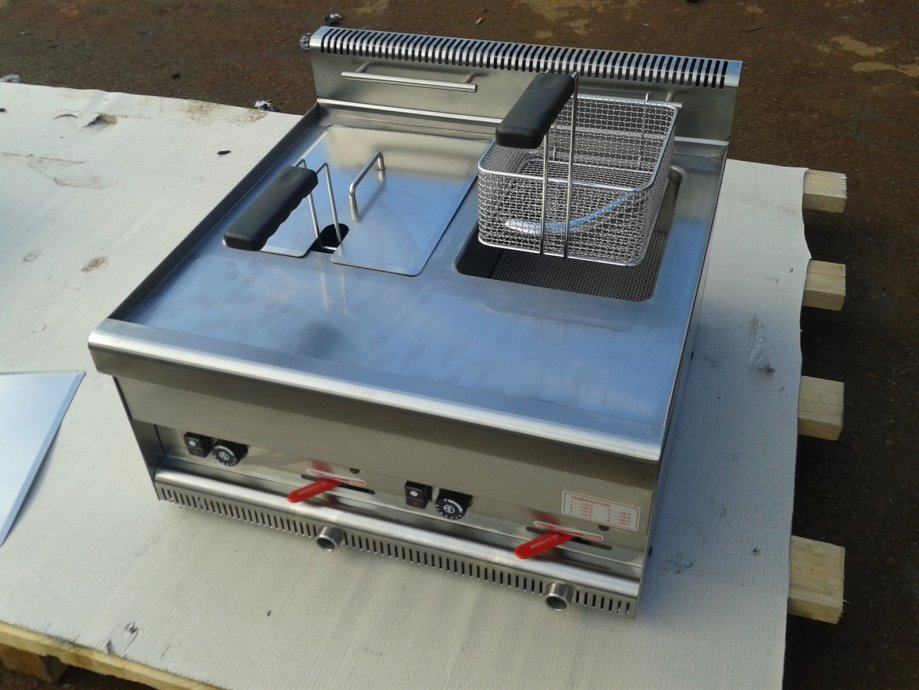 Plinska friteza,sa termostatom i ispustom