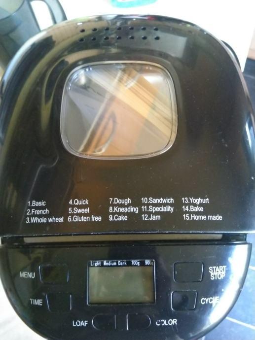 Gorenje pekač kruha(gluten free)