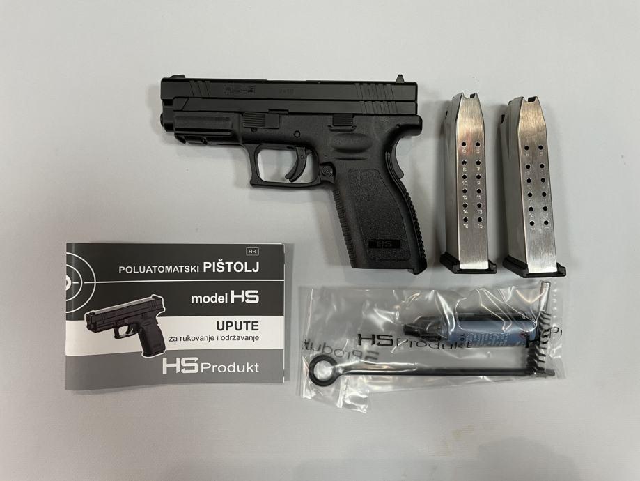"""Hs Pištolj Hs-9  4""""  9x19mm **Akcija**,Novo u Trgovini"""