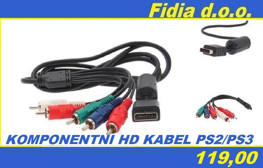 Komponentni HD AV kabel PS2 / PS3 - NOVO!