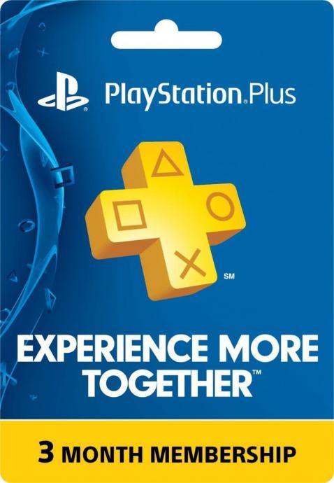 PSN PlayStation Plus Card 3mj. članstvo | Novo | Original | Račun