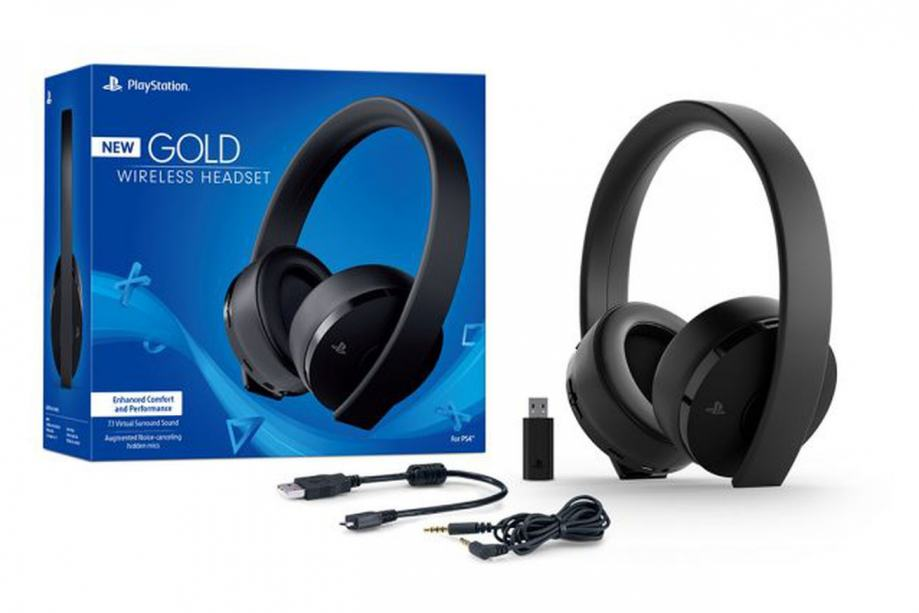 Sony bežične stereo slušallice Gold za PlayStation 4, crne