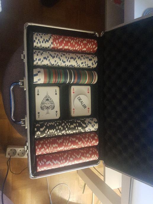 Poker set, 600+ chipova