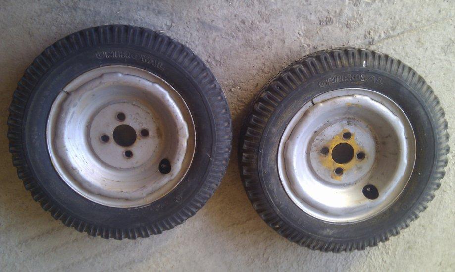 kotaci, gume sa felgama za motokultivator ili prikolicu