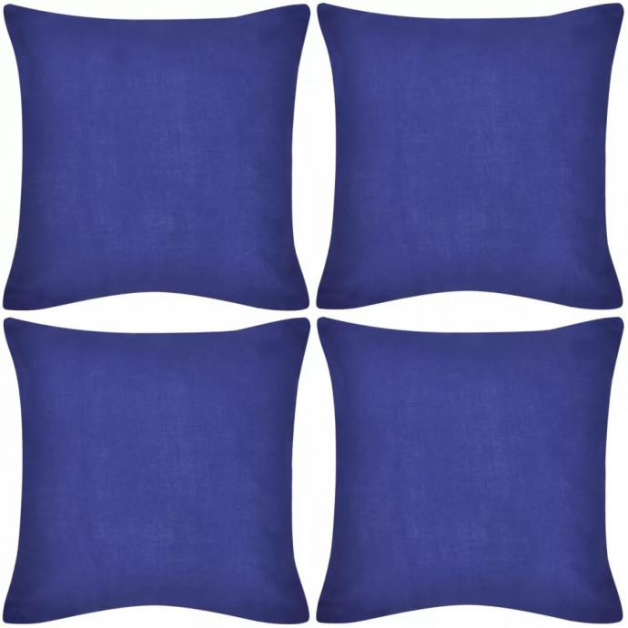 4 Plave Jastučnice Pamuk 40 x 40 cm - NOVO