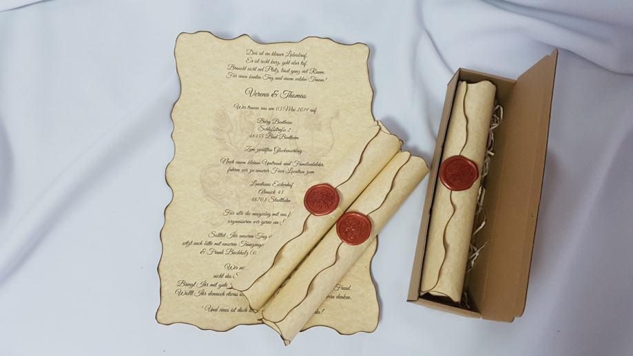 Vintage pozivnice za vjenčanje, pečat od voska, ŠALJEMO POŠTOM